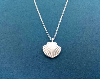 Puffy, Seashell, Silver, Necklace, Sea, Shell, Ariel, Mermaid, Jewelry, Cute, Dainty, Simple, Modern, Birthday, Friendship, Gift, Jewelry