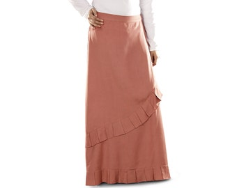 Ulfah Soft Rayon Redwood Skirt AS004 Islamic Formal, Muslim Ladies Skirt, Daily & Casual Wear Made In Soft Rayon Fabric