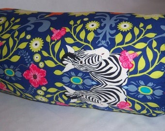 Zebras Peeking Through-Pillow Cover-Bolster 7x16