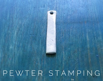 Pewter Stamping Blanks - Skinny Tag - Pewter Pendant - Handstamping Supplies - Wholesale Jewelry Supply  (M217A)