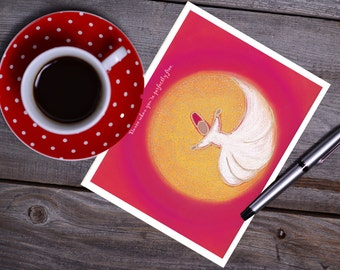 "Swirling Sufi ""Dance"" Note Cards"