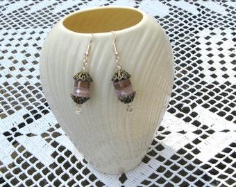 Artisan Lampwork Glass Dangle Drop Earrings