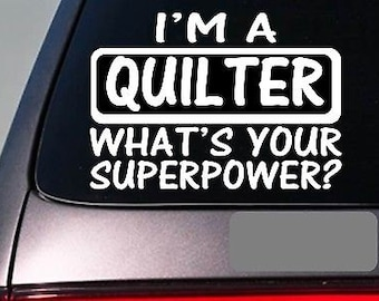 I'M A Quilter Sticker Decal *E172* Quilt Quilting Needle Stand Blanket
