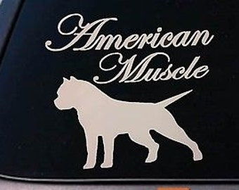 "American Bully *B173* Pit Bull Pitbull Dog 6"" Sticker Car Decal Window Laptop"