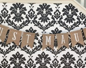 Custom JUST MAUI'D Burlap Banner Wedding Just Married Island Wedding