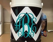 Large chevron cooler with monogram