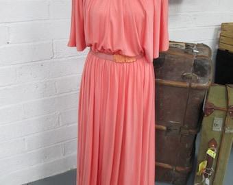 Vintage Maxi dress - coral