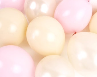 Mini Balloons - Blush Pink Mix - Wedding / Bridal Shower / Bachelorette Party / Champagne Rose Peach Nude / Natural Modern / Small Latex