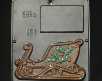 Sleigh Assembly Right Side Chocolate Candy Mold Christmas  2071