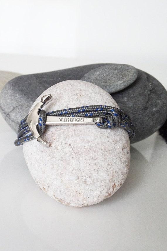 bracelet ancre de marine cordon en drisse par. Black Bedroom Furniture Sets. Home Design Ideas