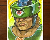 Tri-Klops from He-Man MOTU | Comic art | ACEO Original Art Card