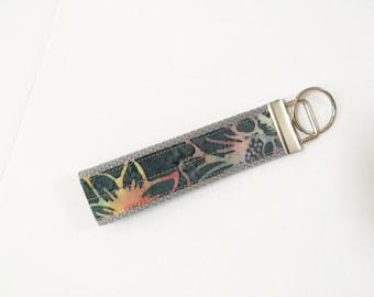 Durable key fob wristlet, Key fob wristlet, Batik key fob wristlet