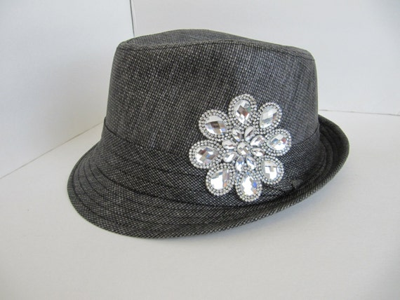 fedora womens hat fedora linen fedora easter by