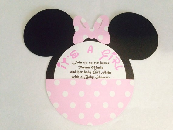 minnie mouse baby shower party invitations 12 by natysmagicbox