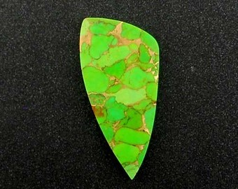 Kingman Turquoise Mohave Green Hand Cut Freeform Designer Cabochon
