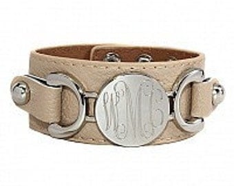 Monogrammed Leather Bracelet, Cuff Leather Bracelet, Monogrammed Bracelet, Leather bracelet, Monogrammed Leather Bracelet