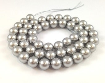 12mm 5810 LIGHT GREY 10pcs Swarovski Crystal Round Pearls