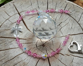 Breast Cancer Awareness Crystal Heaven's Light Catcher Personalized