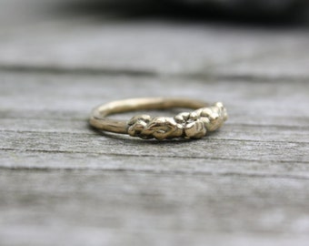 MADE TO ORDER 14k Yellow Gold Molten Ring