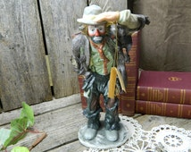 On Sale................Rare Vintage Numbered Limited Edition Emmett Kelly Jr Figurine - Looking Out to See - Mint Condition
