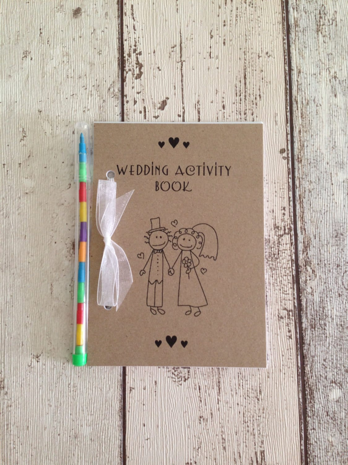 Children's Wedding Activity Pack Book Gift Favour A6