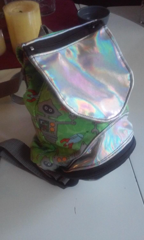 On Sale Vaporwave Mini Back Pack Robot Backpack Holographic
