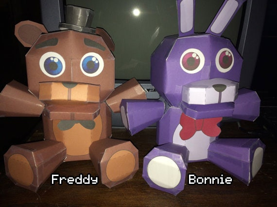 Five Nights At Freddy S Plushies Papercraft By Adogopaper – Desenhos