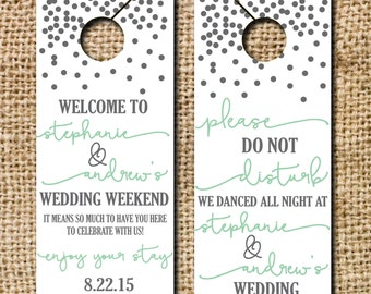 Do not Disturb Wedding Door Hangers