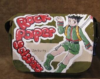 Gon Freecss Hunter × Hunter by Suzuknows Original Handpainted Artwork Canvas Shoulder Bag  62115n9