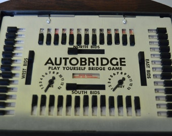 AutoBridge Play Yourself Bridge Game Deluxe Pocket Model Solitare Bridge game 4 handed Contract Bridge play