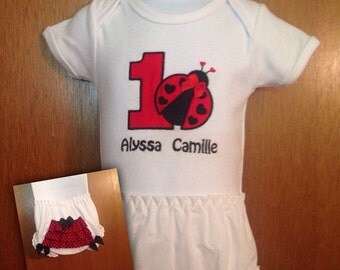Personalized Onsie or T-shirt & Diaper Cover/Bloomers