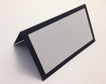 Wedding Place Cards in Black and White. Blank place cards