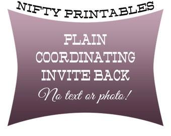 Coordinating Invite Back - No Text