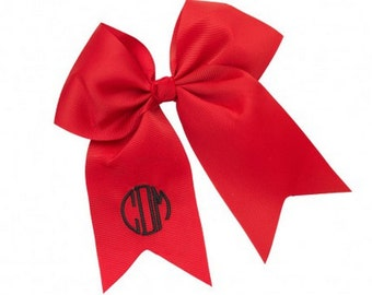 Monogrammed Red Gaming Bow