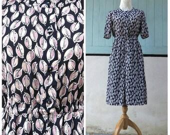 vintage 1960s dress/ midi dress