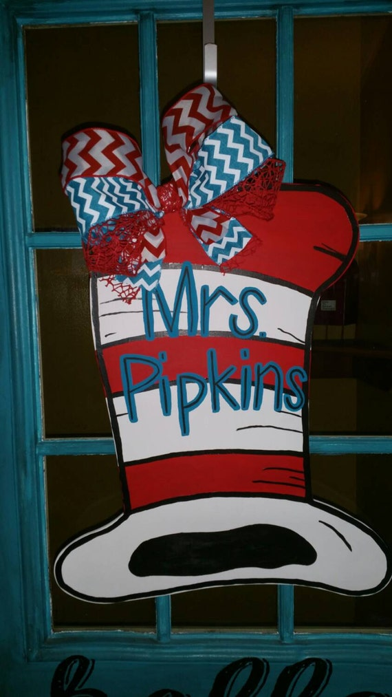 Dr Seuss Hat Door Hanger
