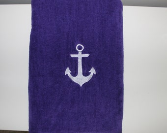 Anchor Personalized Embroidered Beach Towel, Nautical Beach Towel