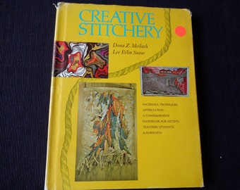 1970 Book Creative Stitchery materials techniques teaching photos