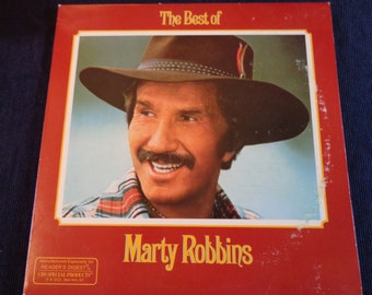 Vintage Vinyl LP record Marty Robbins, The best of, original