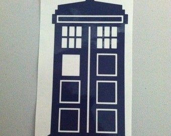 Doctor Who   Tardis   Vinyl Decal
