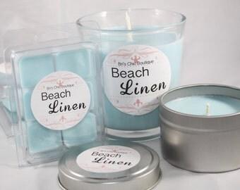 Beach Linen 4 Piece Soy Candles