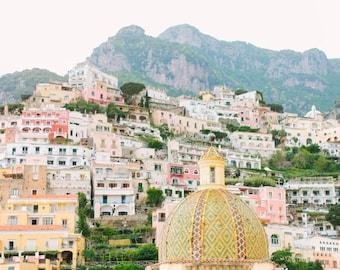Italy Photography, Summer in Positano, Amalfi Coast, Italy, beach photography,Italian home decor, Positano Art, bedroom art, italy travel