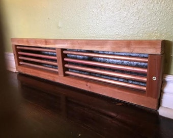 Redwood and Copper Heat Register/vent Cover