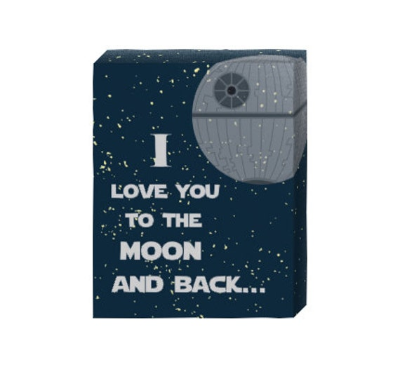 I Love You Quotes: Items Similar To I Love You To The Moon And Back- Star