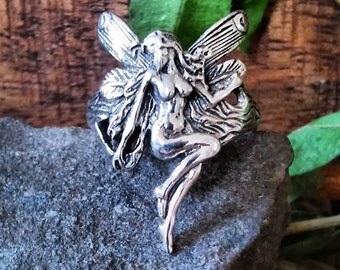 Erotic Fairy Ring Sterling Silver Fairy Fantasy Ring Size 5 6 7 8 9 10 Gift Boxed Guaranteed