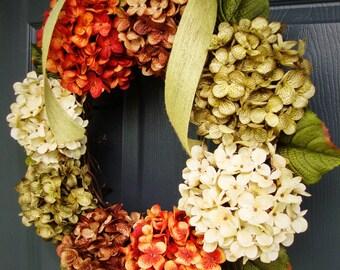 WREATHS | Hydrangea Wreath | Wreaths for Door | Door Wreath | Summer Wreath | Outdoor Wreaths | Summer Wreaths | Wreath
