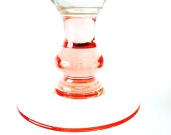 Vase, champagne glass shaped PINK PARADISE -- Pink glass stemmed vase or giant champagne flute !! vintage by SophieLDesign