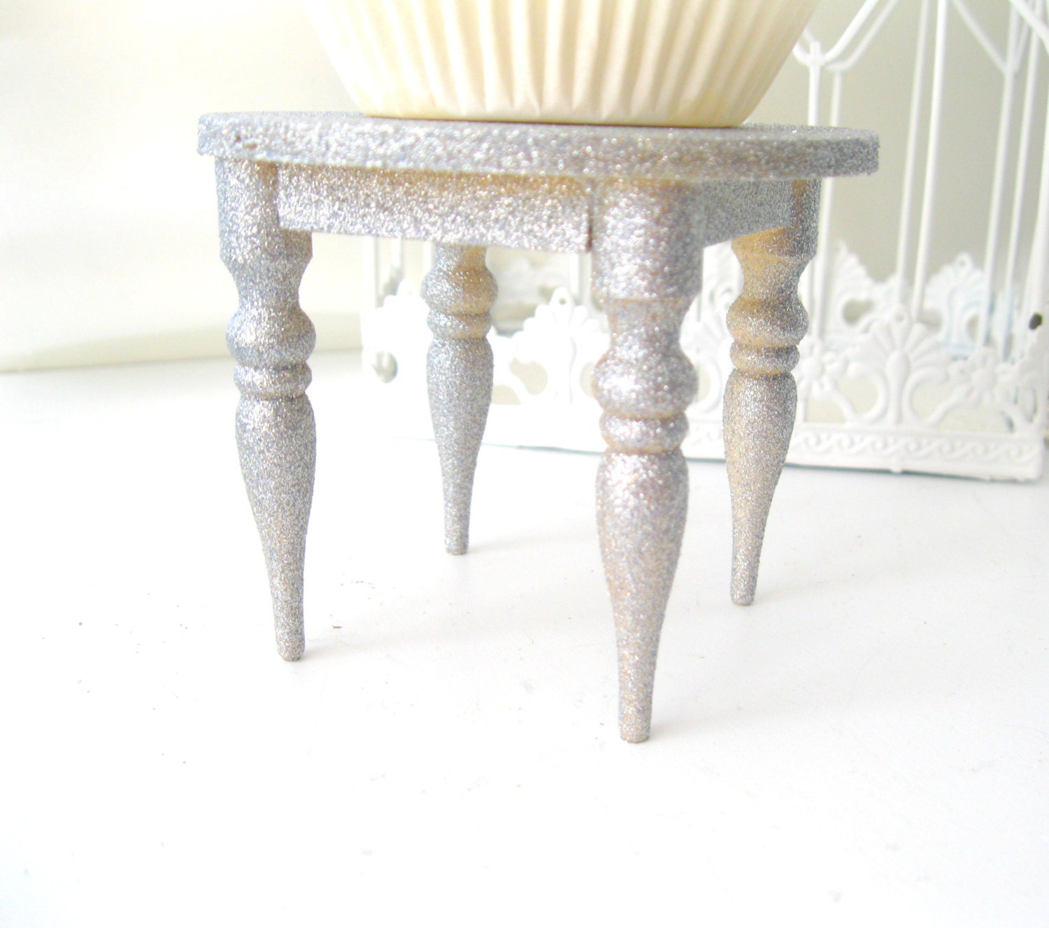 silver glitter wedding cake stand 6 wood cupcake stands silver glitter cupcake tables display 19862