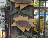 Primitive wreath, Fall Primitive door hanger, Barn wood, Primitive Sunflower, FAAP, OFG team, Primitive fall , Country plaque