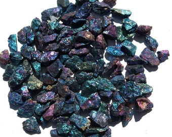 "1 lb Bornite ""Peacock Ore"" Pieces Chalcopyrite Rough Chunk Rock Crystals Pound, Beautiful Peacock Ore Stones For Creating Jewelry Or Healing"